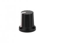 2MA-010W - Manopola potenziometro Mod.: D-1027 Ø 15mm x 16,6mm, per albero da 6mm